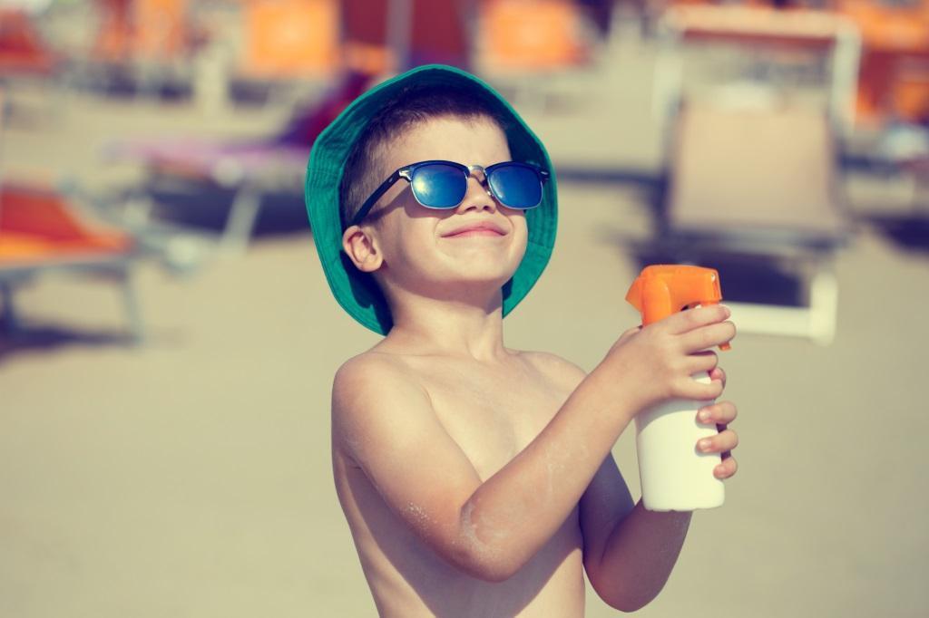 Mantenha os seus filhos bem protegidos do sol